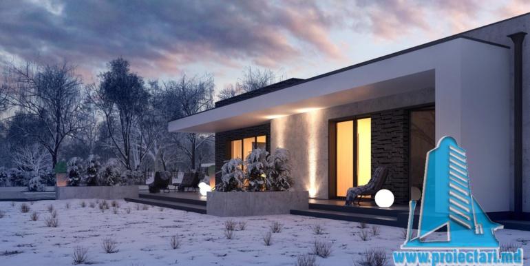 proiect de casa cu un etaj si garaj cu suprafata pina la 225m23