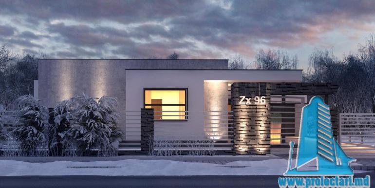 proiect de casa cu un etaj si garaj cu suprafata pina la 225m24