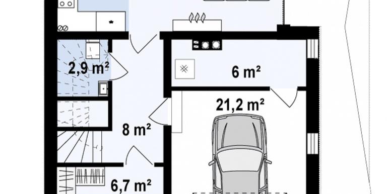 proiect de casa duplex pentru dopua familii cusuprafata pina la 150 m2 plan parter