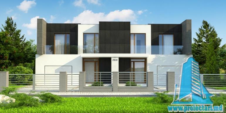proiect de casa duplex pentru dopua familii cusuprafata pina la 150 m21