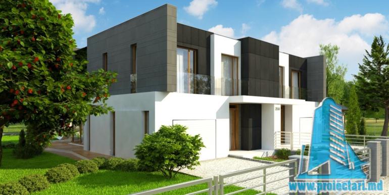 proiect de casa duplex pentru dopua familii cusuprafata pina la 150 m22