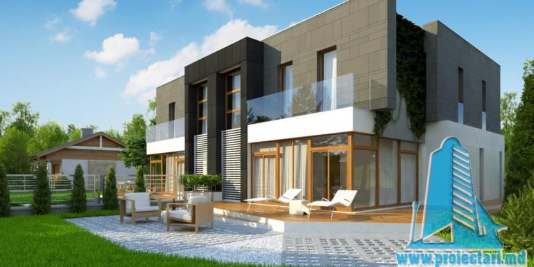 proiect de casa duplex pentru dopua familii cusuprafata pina la 150 m23