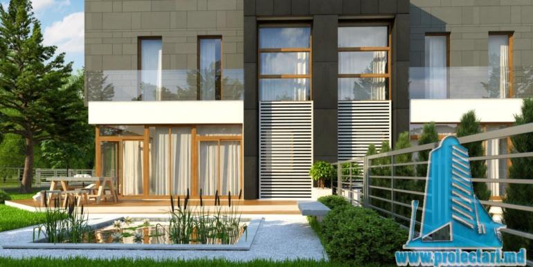proiect de casa duplex pentru dopua familii cusuprafata pina la 150 m25