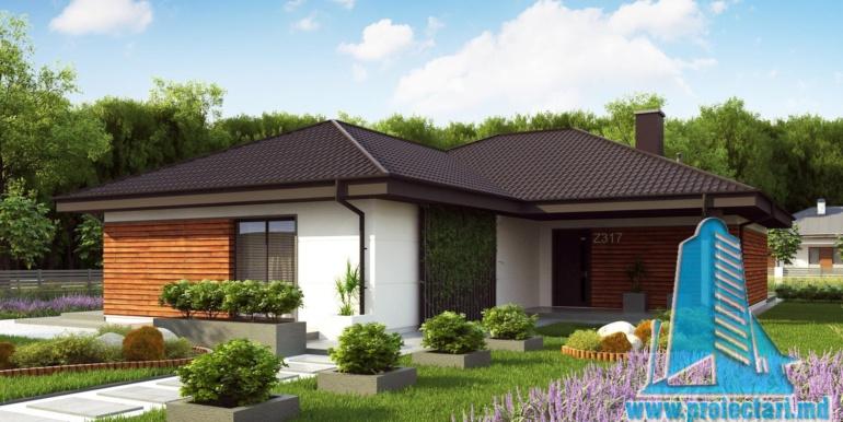 proiect de casa mica ieftina fara garaj pina la 150m2