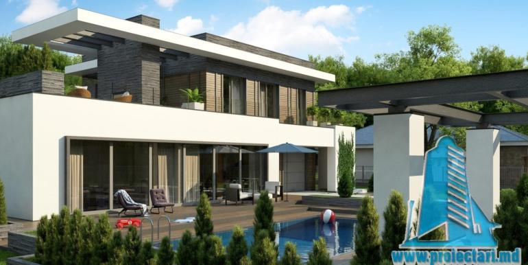 proiect de casa moderna cu acoperis plat cu terasa mare si suprafata de pina la 350m23