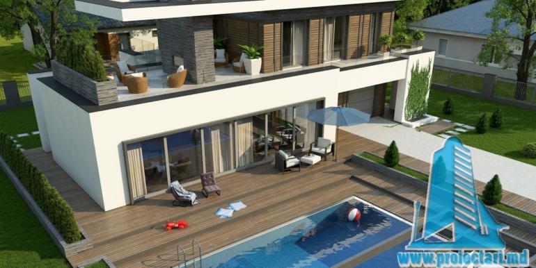 proiect de casa moderna cu acoperis plat cu terasa mare si suprafata de pina la 350m24