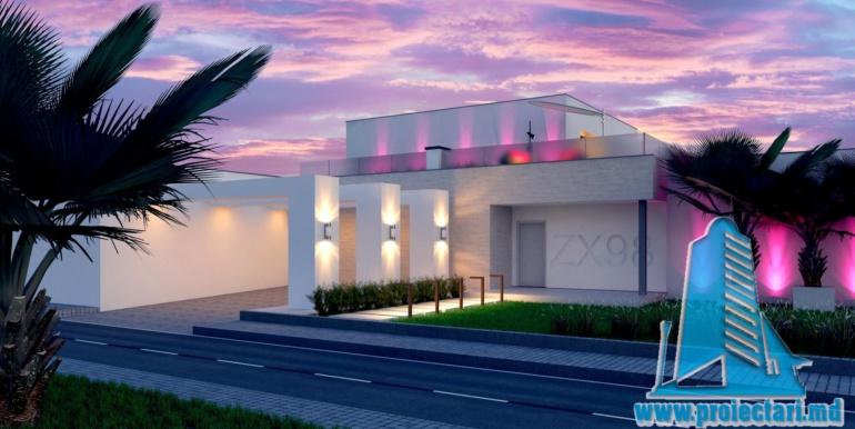 proiect de casa moderna cu acoperis plat si terasa amenajata cu suprafata de pina la 350m2 cu bazin 1