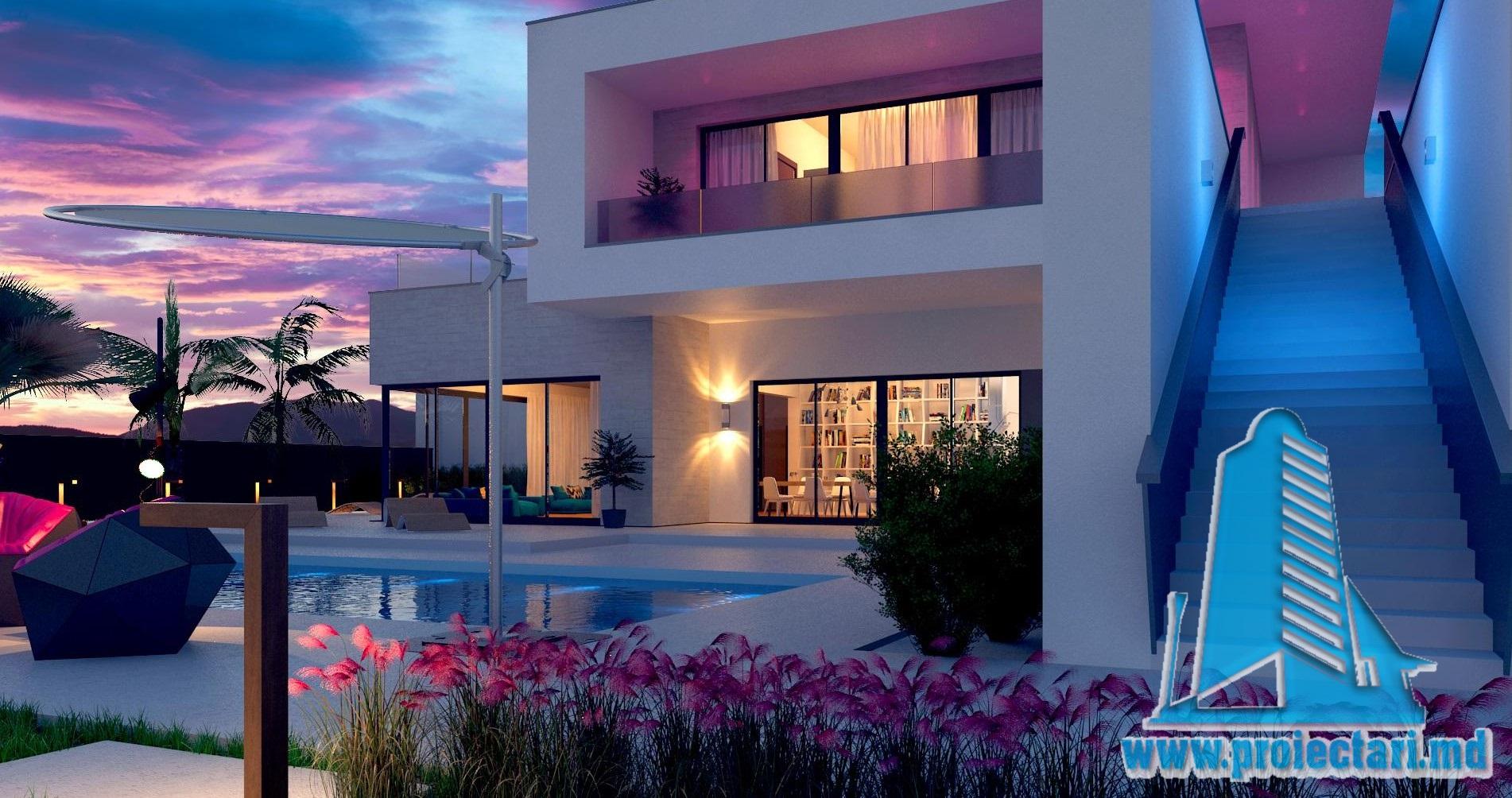 Проект двухэтажногодома с летней террасой-100970