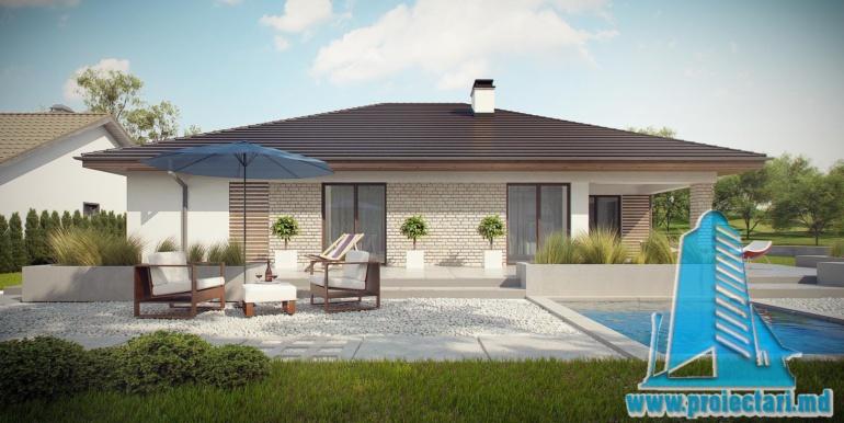 басейн проект дома с гаражом 230м2