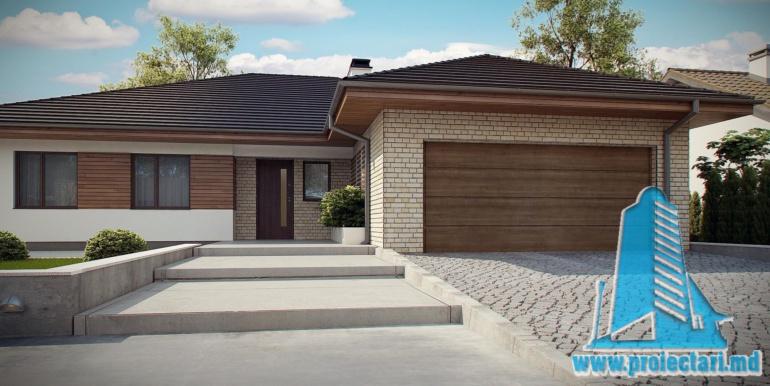 лестниця проект дома с гаражом 230м2