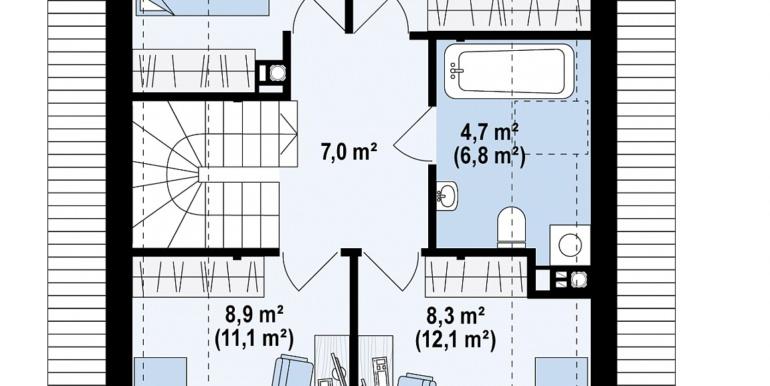 план мансарда проект жилого дома с мансардой 140м2
