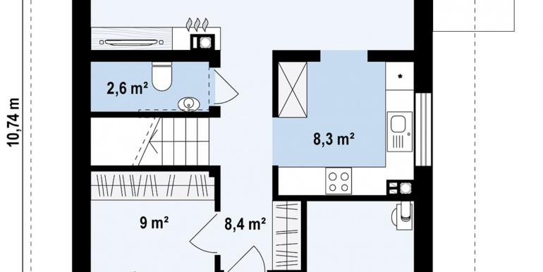 план партер проект жилого дома с мансардой 140м2