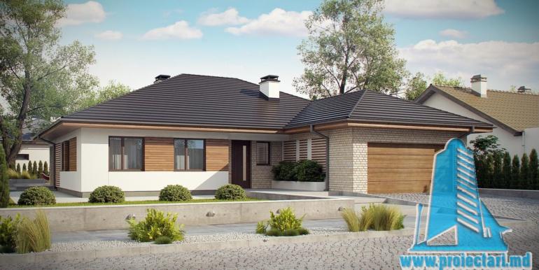 проект дома с гаражом и терасой 230м2