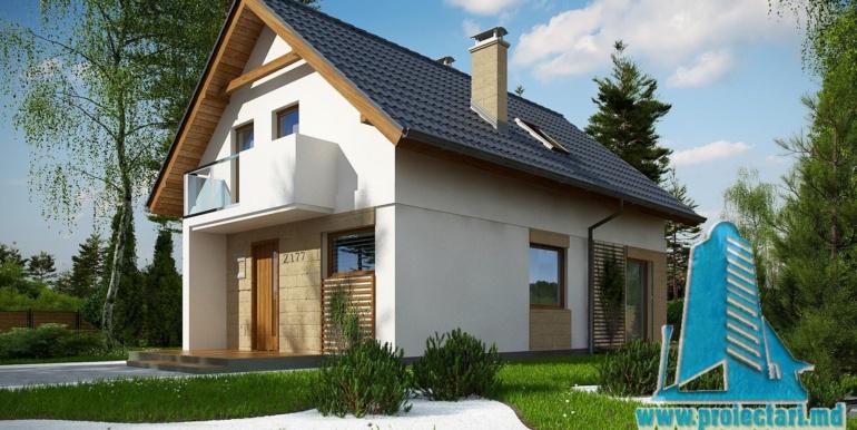 проект жилого дома с мансардой 140м2