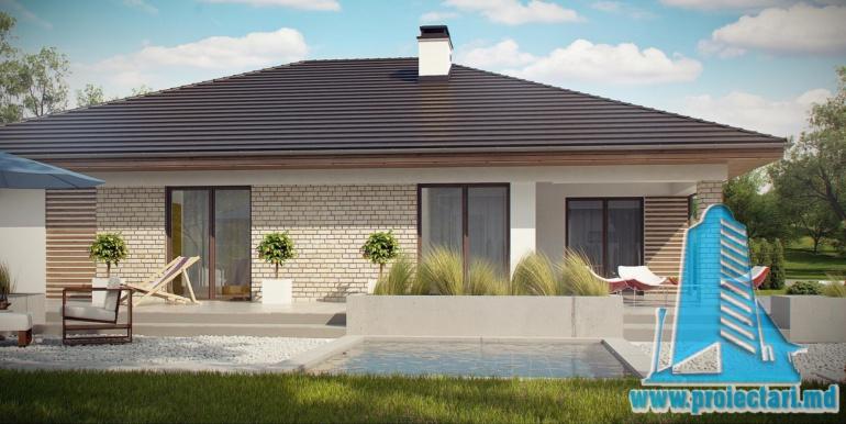 проект кирпичного дома с гаражом 230м2