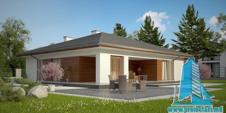 проект одноетажного жилого дома 160м2 с терасой