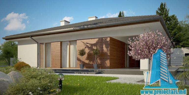 проект одноетажного жилого дома 160м2 с терасой1