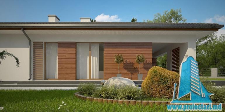 проект одноетажного жилого дома 160м2 с терасой2