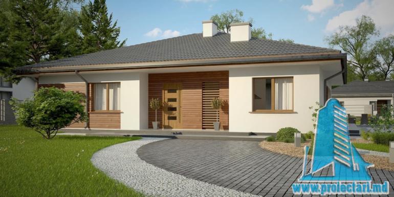 проект одноетажного жилого дома 160м2 с терасой3