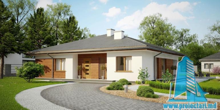 проект одноетажного жилого дома 160м2