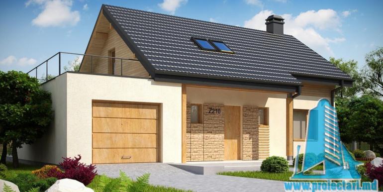 проет жилого дома с мансардой 180м2 с гаражом для одного автомобиля
