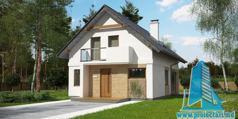 фасад проект жилого дома с мансардой 140м2