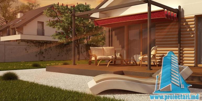 design terasa cu sezlong proiect de casa cu parter 120m2