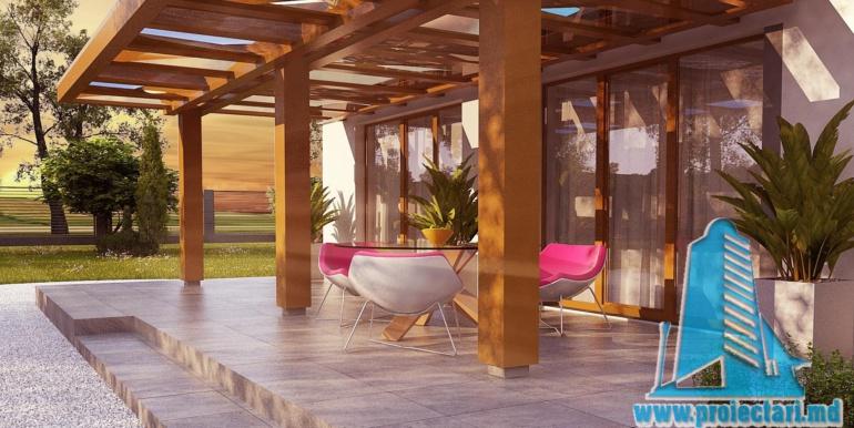 design terasa de vara cu lemn si placa ceramica