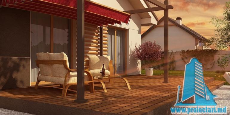 design terasa proiect de casa cu parter 120m2