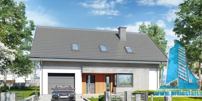 garaj pentru proiect de casa cu acoperis din tigla 160m2 cu garaj pentru un automobil
