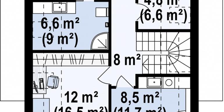 plan mansarda proiect de casa mica cu parter si mansarda cu terasa pe garajul pentru doua automobile 214m2