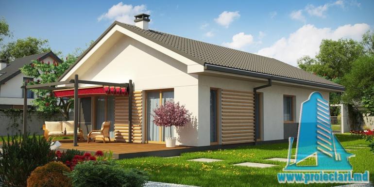 proiect de casa cu parter 120m2 cu terasa de vara