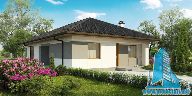 proiect de casa cu parter terasa de vara si acoperis din tigla ceramica
