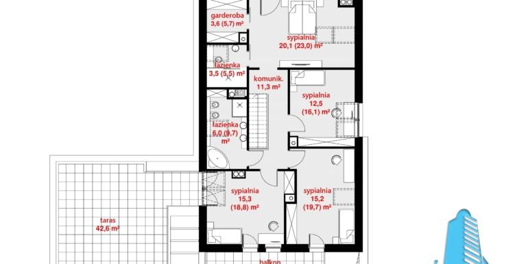 Plan mansarda casa cu parter mansarda si garaj pentru doua automobile