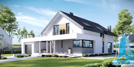 Casa cu parter,mansarda si garaj pentru un automobil– 319 m2 – 101004