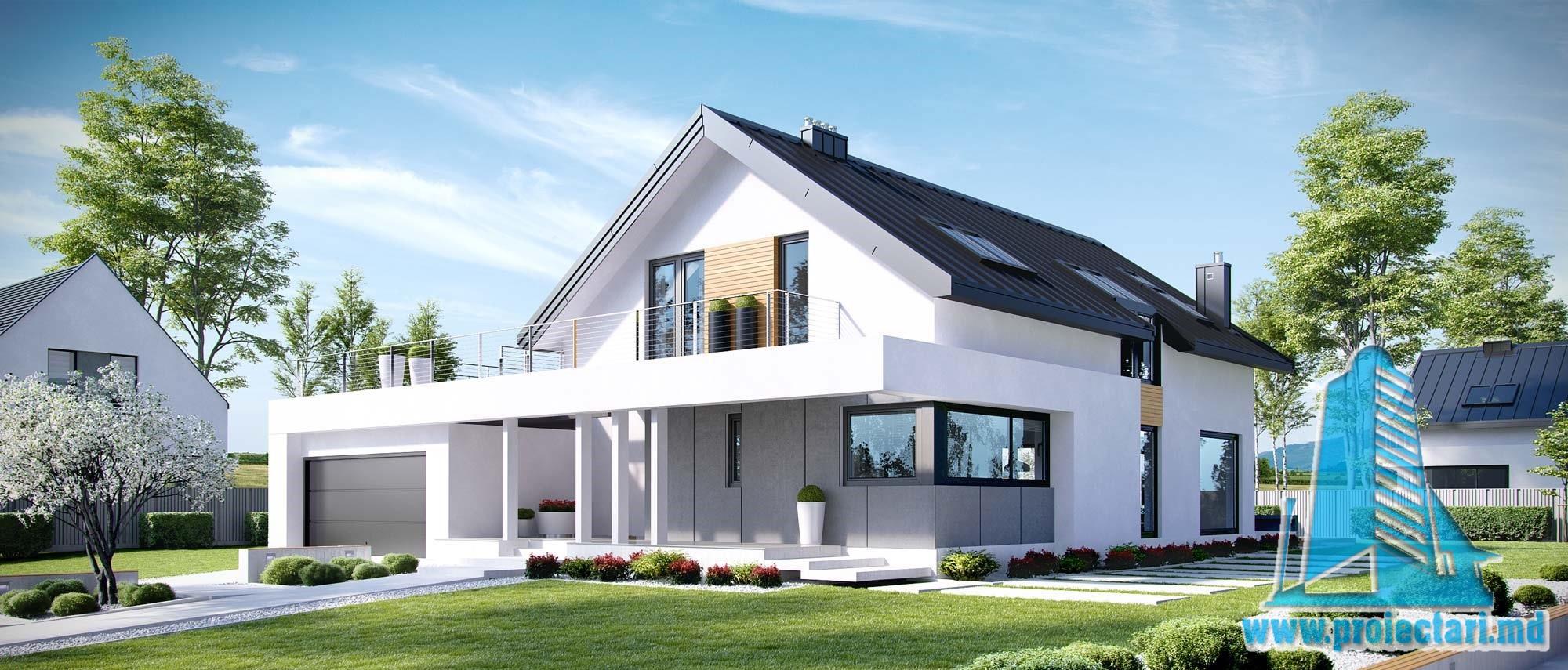 Casa cu parter, mansarda si garaj pentru doua automobile-367 m2-101027