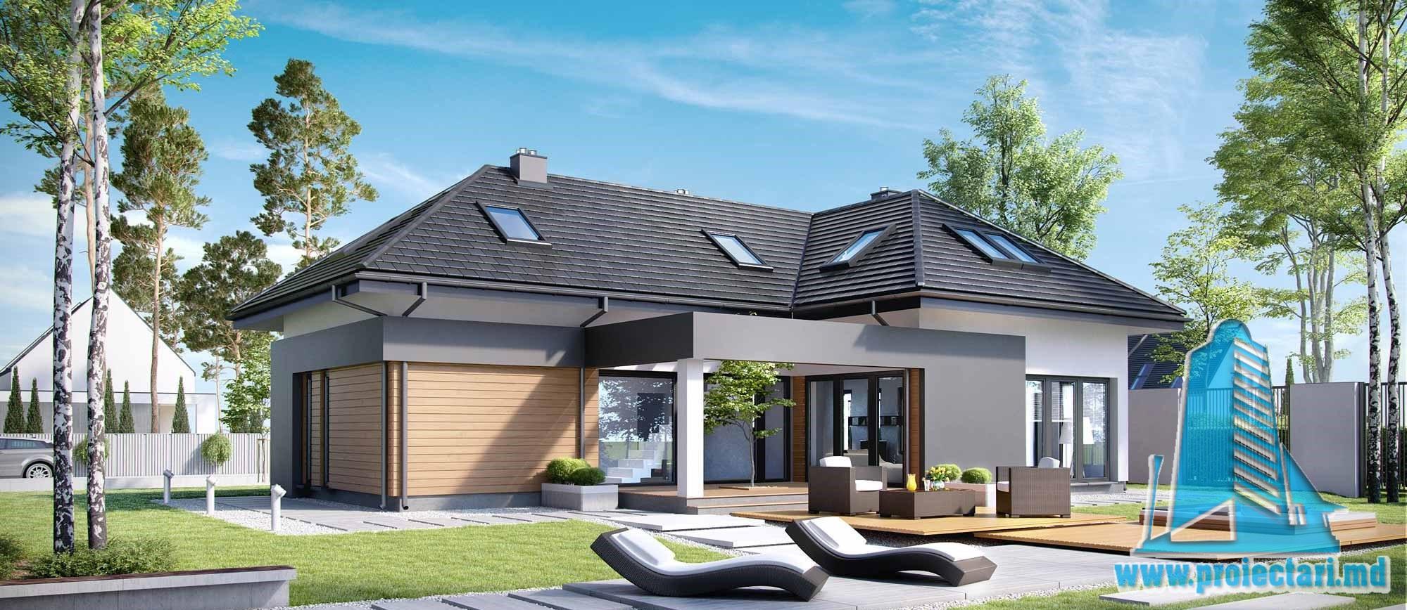 Casa cu parter, mansarda si garaj pentru un automobil-279 m2-101032