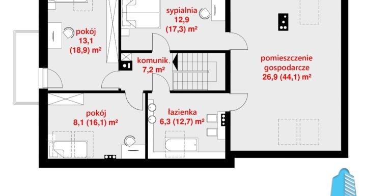 plan mansarda casa cu parter, mansarda si garaj pentru automobile