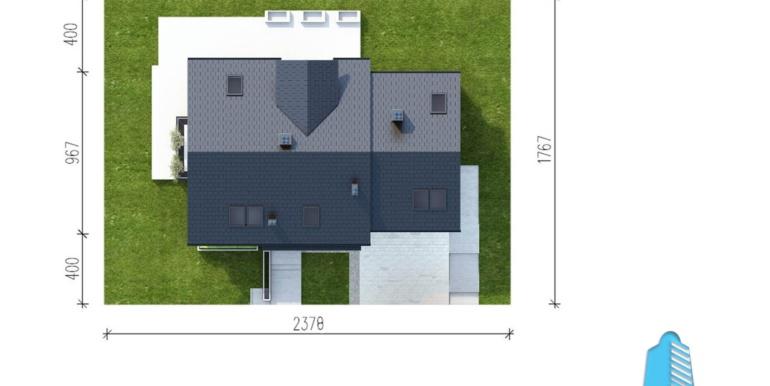 casa cu parter, mansarda si garaj pentru automobile