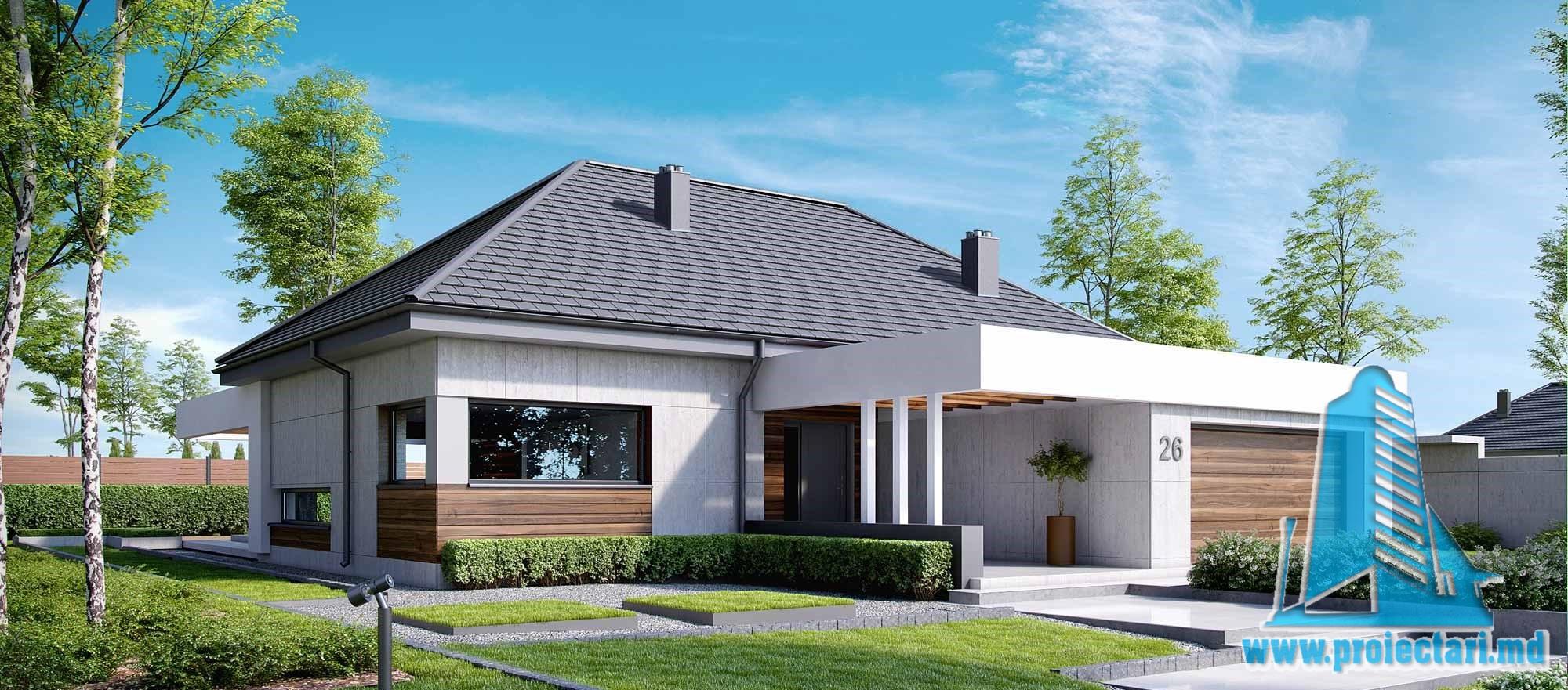 Casa cu parter si garaj pentru doua automobile – 248 m2 – 100998
