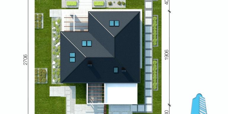 Casa cu parter, pansarda si garaj pentru doua automobile
