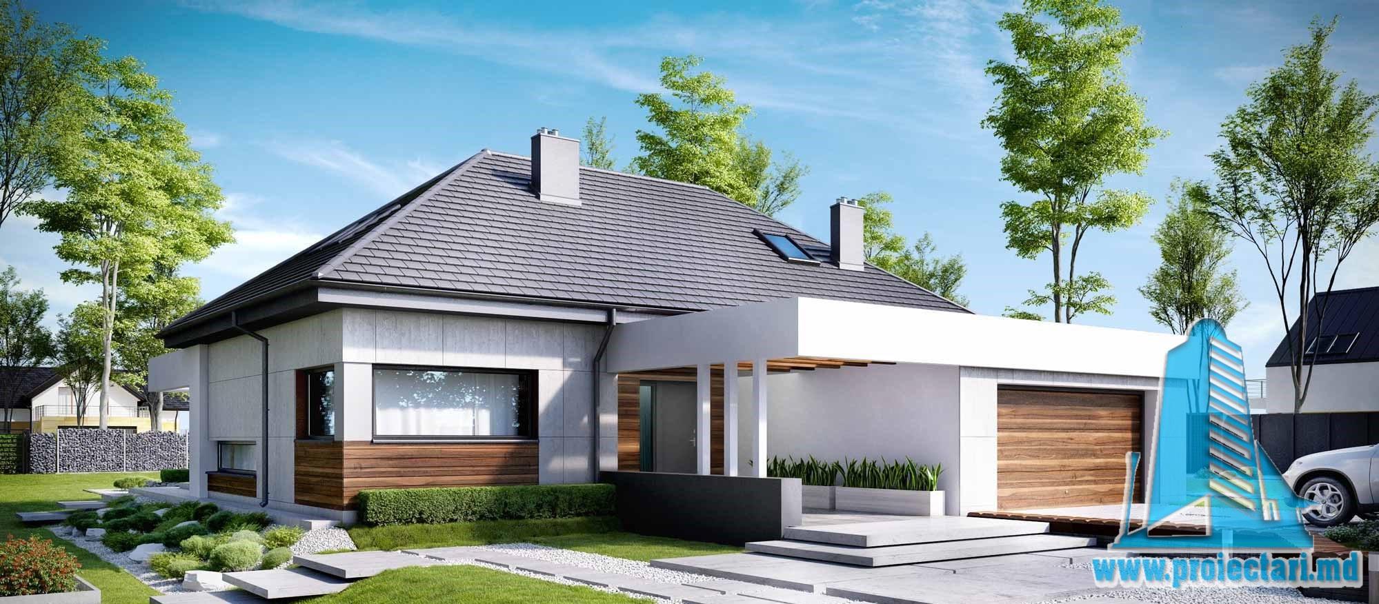 Casa cu parter, mansarda si garaj pentru doua automobile-409 m2- 101020