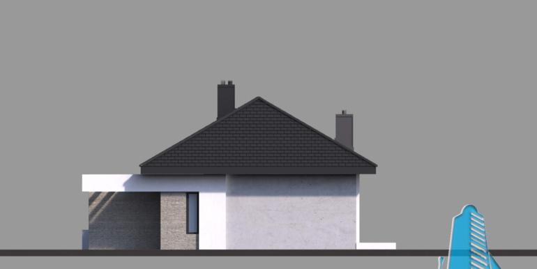 fatada casa cu parter si garaj pentru doua automobile