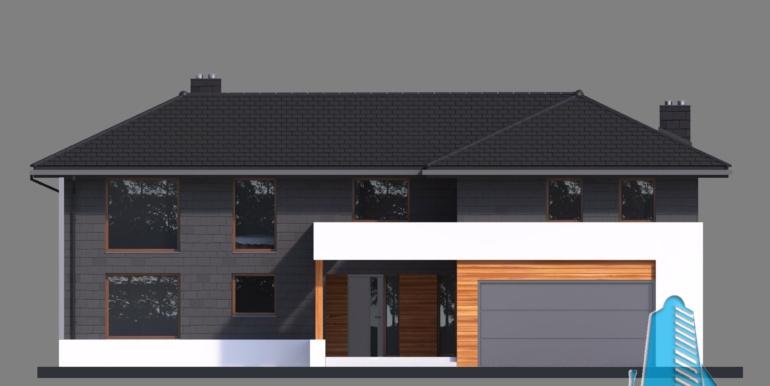 Casa cu parter, etaj si garaj pentru doua automobile