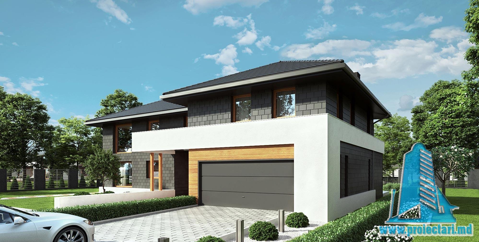 Casa cu parter, etaj si garaj pentru doua automobile- 402 m2 – 101023