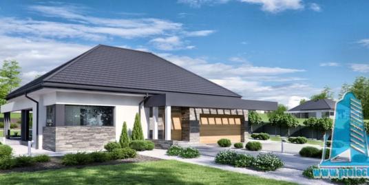 Casa cu plan parter si garaj pentru 2 automobile-220 m2-101005