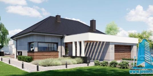 Casa cu parter si garaj pentru 2 automobile-202 m2-101016
