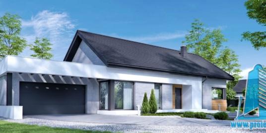 Casa cu parter si garaj pentru doua automobile-203 m2-101015