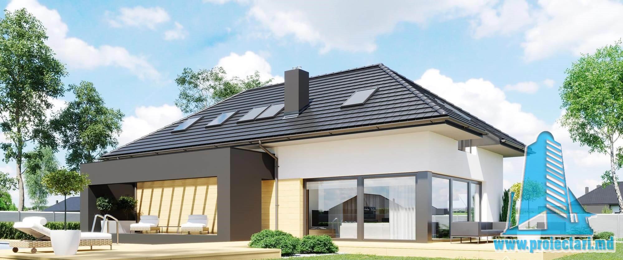 Casa cu parter,mansarda si garaj pentru un automobil– 238 m2 – 100996