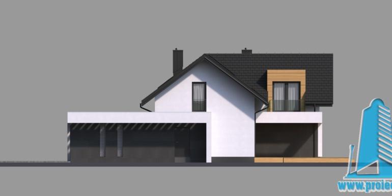Plan mansarda Casa cu parter, mansarda si garaj pentru doua automobile